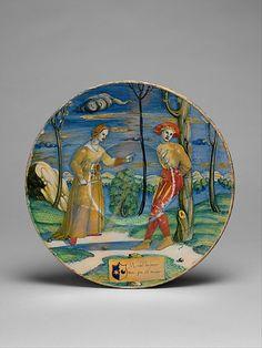 Maiolica Plate -  The Saint Ubaldus Painter (Italian, active first half 16th century)