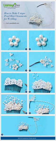 How to Make Unique Pearl Hair Ornaments for Wedding from LC.Pandahall.com