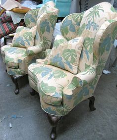 Pair of Helmsley Wing Back Chairs  Totally by WydevenDesigns, $1500.00