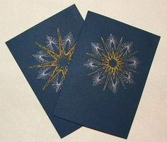 Sewing christmas cards paper embroidery 39 ideas for 2019 Paper Embroidery Tutorial, Embroidery Cards, Embroidery Ideas, Christmas Cards To Make, Christmas Paper, String Art Diy, Stitching On Paper, Sewing Machine Projects, Art Carte