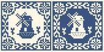 Delft tile cross stitch