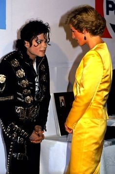 Michael Jackson with Princess Diana.
