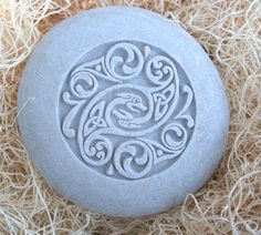Celtic Design - Home decor - Stone Paperweight - Hand Carved Stone art by sjEngraving. $25.00, via Etsy.