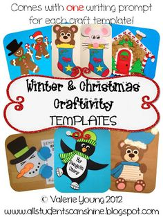 All Students Can Shine: Craftivity Templates