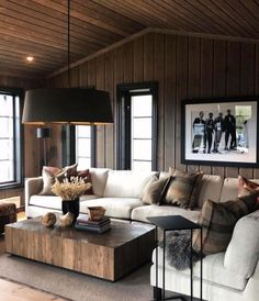 Cabin Fever, Cabins In The Woods, Log Homes, Lodges, Farmhouse Style, Tin, Cottage, House Design, Couch