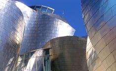 Frank Gehry, Guggenheim Museum Bilbao (exterior detail), 1993-97, titanium, limestone, glass, steel (photo:josu.orbe, CC BY-NC 2.0)