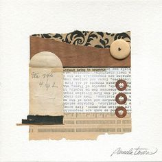 """Off Kilter"" Mixed-media collage with wood veneer, old papers and found bead. x Buy Print Save Collage Art Mixed Media, Collage Artwork, Collage Artists, Mixed Media Artists, Mixed Media Canvas, Collage Ideas, Old Paper, Paper Art, Paper Collages"