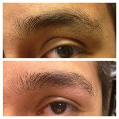 eyebrow threading for men!! @Raghad Al-agla Allie  Threading eyebrow are for all , not for female or men.#EyeBrowThreading