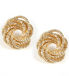 47b55c17f Gold Coiled Stud Earrings Diamond Are A Girls Best Friend, Bling Bling,  Fatale,
