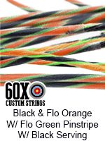 black and fluorescent orange with fluorescent green pinstripe with clear serving…