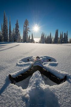 """snow angel - On New Years Eve we enjoyed an inversion in the mountains and made snow angels in the sunshine!  My <a href=""""https://www.facebook.com/pages/Viktoria-Haack-Photography/116186781787512?pnref=lhc""""> facebook </a> and <a href=""""https://instagram.com/viktoriahaack/""""> instagram </a>"""