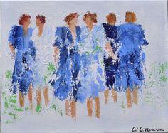 Leuk origineel werk van Wil Willemsen uit 2013. Het stuk is 1 van een aantal wat kleinere originele werken die de kunstenares vervaardigde. De stukken zijn prachtig warm van kleur en figuratie en zijn door de kunstenares vervaardigd met acryl op een stevig linnen doek.