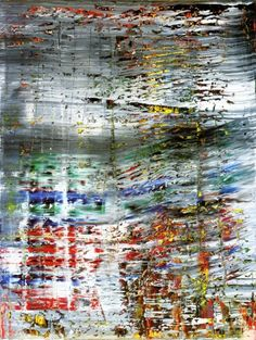 Abstract Painting by Gerhardt Richter (1990) - Richter layers color and then deconstructs with sandpaper and other tools. Today is his 80th birthday.