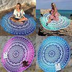 Bohemian Mandala Beach Round Tapestry Hippie Tassel Throw Roundie Yoga Mat Towel #yogamats