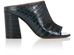 GIVENCHY Paris Croc-Stamped Leather Mules. #givenchy #shoes #all