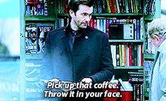 """Pick up that coffee. Throw it in your face"" - Kilgrave's power #JessicaJones"