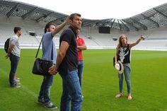 EN IMAGES. Les footballeurs du Red Star visitent «leur» stade Jean-Bouin
