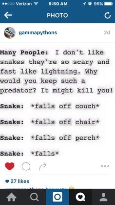 accurate, my snake scared himself when I was putting him back in his tank and fell off my hand and into his water dish.