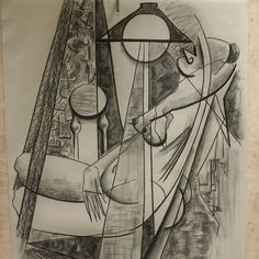 Last sketch  of my evening drawing. . #cubisticladies #cubism #lujmari #drawing #kresba #womeninart #umenienaslovensku #newartists