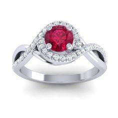 Ruby | Halo Rings | Gemstones | Wedding Jewelry