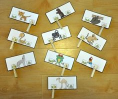 Desert Animals or Rain Forest Animals Clothespin Task:  Students clip one clothespin per card to indicate whether the animals shown lives in the desert or lives in the rain forest.