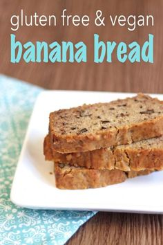 Gluten-free and vegan banana bread - Just leave out the nuts, enjoy life mini chips instead.  Delicious! Didn't miss the butter at all.  Winner!