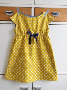 Carefully made by Mrs Robinson: An autumnal roller skate dress Frocks For Girls, Kids Frocks, Little Girl Dresses, Baby Girl Fashion, Toddler Fashion, Kids Fashion, Baby Dress Design, Baby Girl Dress Patterns, Cute Outfits For Kids