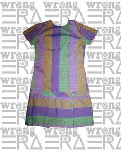 1960s striped mini dress