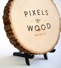 Signage on Wood- I kinda like this idea to make a sign for Men's Tie Clips or Cufflinks