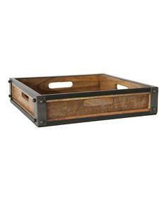 Look at this #zulilyfind! Rustic Metal & Wood Tray #zulilyfinds