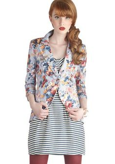 $41.99 ~ Fine and Sandy Blazer in Floral, #ModCloth