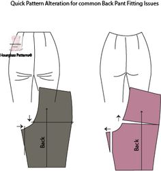 Sewsuccessful: Hourglass Learning: Pants Sewing Techniques It is a fact that knowing . Sewing Pants, Sewing Clothes, Barbie Clothes, Barbie Barbie, Dress Sewing Patterns, Clothing Patterns, Shirt Patterns, Fashion Sewing, Diy Fashion