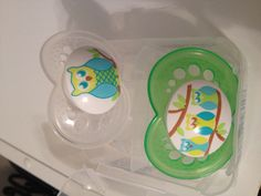 Owl mam pacifiers newborn-6 months. One of each so three and the ones with the sterilizers