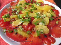 Hamburg kocht!: Tomaten-Orangen-Salat mit Granatapfelkernen