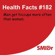 #DidYouKnow? Men get hiccups more often than women. #HealthFacts