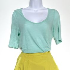 J.Crew Mint Top Super soft J.Crew mint colored top. 3/4 sleeves with a scoop neck. J. Crew Tops