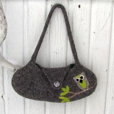 Felted Purse , Wool