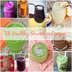 10 Healthy Smoothie Recipes | via @Brittany Mullins (Eating Bird Food)