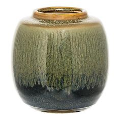 ACHICA | Bloomingville Vase, Green/Blue/Curry