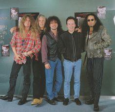 (Feb/1995/BURRN!)  Scott Gorham, John Sykes, Brian Downey, Darren Wharton, Marco Mendoza (Thin Lizzy tribute)