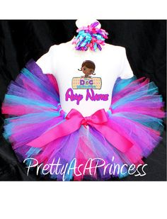 Doc McStuffins Tutu Birthday Outfit Costume by PrettyAsAPrincess2