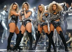 Fierce: Little Mix certainly did not disappoint in the style stakes on Wednesday night, as...