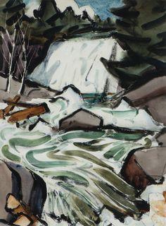 James Fitzgerald Waterfall American Realism, American Artists, James Fitzgerald, Vintage Art, Mystic, Waterfall, Paintings, Abstract, Artwork