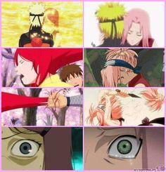 Naruto x Sakura | NaruSaku & MinaKushi | Heaven & Earth | Orange / Yellow & Pink / Red | OTP