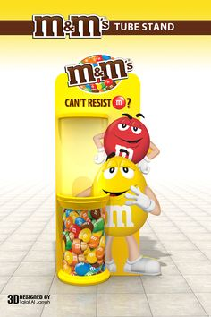 m&m's Tube Stand on Behance