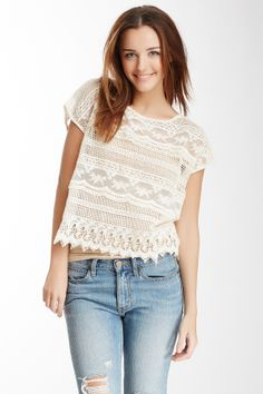 Blu Pepper Crochet Tee