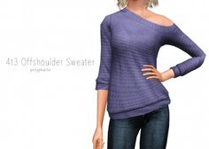 4t3 Offshoulder Sweater - Sims 3 Downloads CC Caboodle