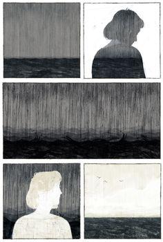 Illustration by Dadu Shin Kunst Inspo, Art Inspo, Art And Illustration, Illustrations, Bd Art, Comic Layout, Graphic Novel Art, Ligne Claire, Ecole Art