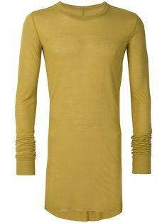RICK OWENS YELLOW & ORANGE. #rickowens #cloth # Rick Owens Men, Orange, Yellow, Crew Neck, Mens Fashion, Silk, Knitting, Long Sleeve, Sleeves