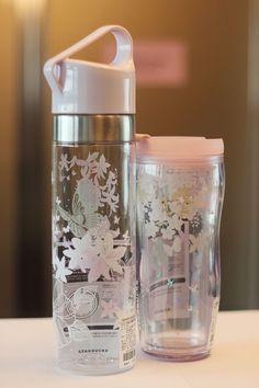 2016 Spring Butterfly Clay Water Bottle 591ml Mint Butterfly Tumbler 355ml SET #Starbucks